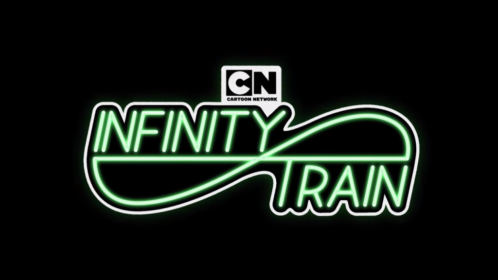 The logo for the Infinity Train television show